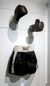 "Bereich ""Lonely Heroes"", Requisit aus RAGING BULL Leihgeber: Harry Ransom Center, University of Texas at Austin - Robert De Niro Collection Foto: Marian Stefanowski"